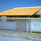 muro casa branco
