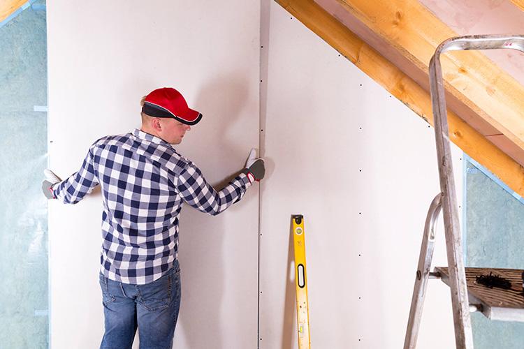 instalar parede de gesso