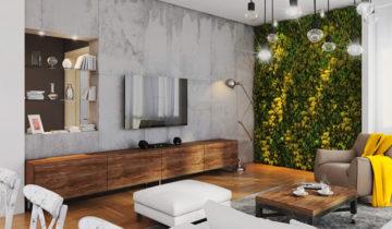 casa parede verde